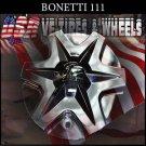 BONETTI  111  CHROME CAP    WHEELS         #PP-CAPSX-P6029 111