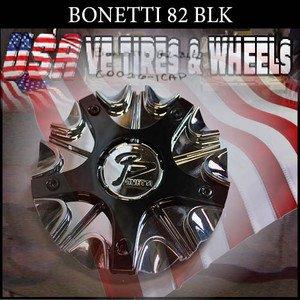 BONETTI 82 CHROME BLK CAP    WHEELS         #C0026-1CAP