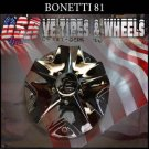 BONETTI 81 CENTER CAP CHROME   WHEELS         #C5187-2CAP /C5187-1CAP
