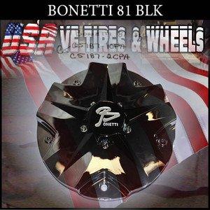 BONETTI 81 CAP CHROME BLK CENTER        #C5187-1CPA/C5187-2CP