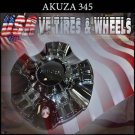 AKUZA 345 CHROME CAP For AKA  Wheels     PANTHER  AKUZA CAPS