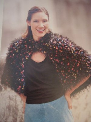 Knitting Crochet Patterns Using Lion Brand Yarn Ponchos Fun Fur