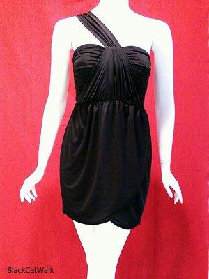 METROPARK Black One-Shoulder Mini Dress - Size Small