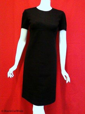 BCBG MAX AZRIA Black Short Sleeve Career Dress - Size 4