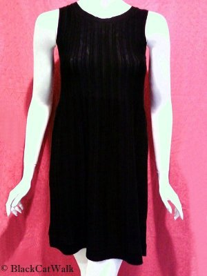 *NWT* KENNETH COLE BLACK SLEEVELESS KNIT DRESS - SIZE EXTRA SMALL