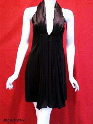 SCARLETT Black Satin Mini Cocktail Dress - Size Small