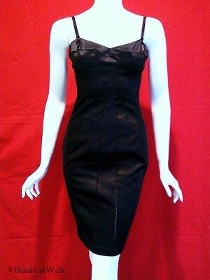 MODA INTERNATIONAL Black Panel Slip Dress - Size 0