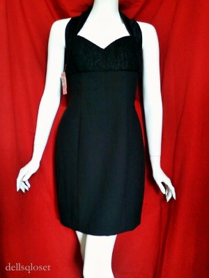 *NWT* JS COLLECTIONS Black Halter LBD - Size 6