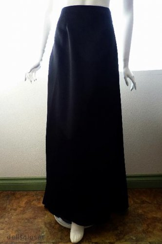 *NWT* ONYX NITE - Beautiful Black Formal Full-length Flowing Skirt - Size 6