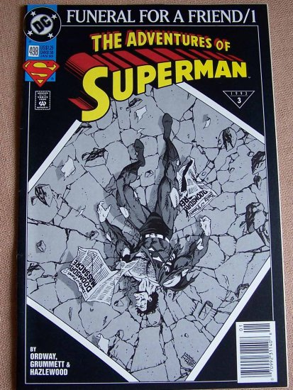 The Adventures of Superman Comic Book No. 498 - January 1993