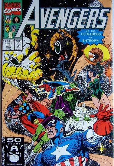 Avengers Comic Book - No. 330 - March 1991