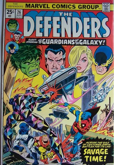 The Defenders Comic Book - Volume 1 No. 26 - August 1975