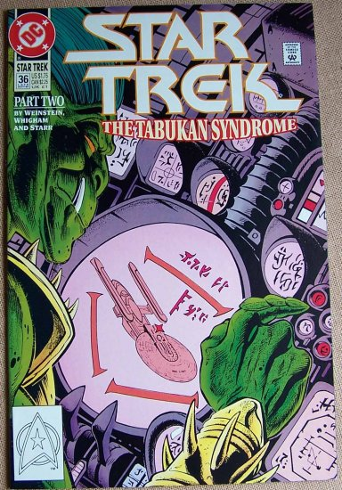 Star Trek The Tabukan Syndrome Comic Book - Part Two No. 36 - September 1992