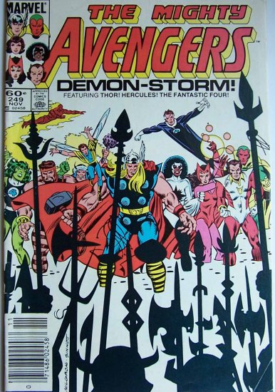 The Mighty Avengers Comic Book - No. 249 - November 1984