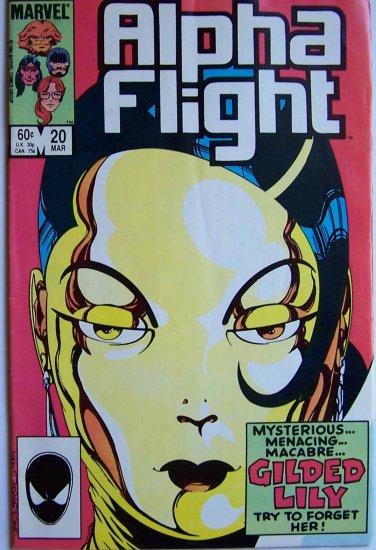 Alpha Flight Comic Book - No. 20 - March 1985