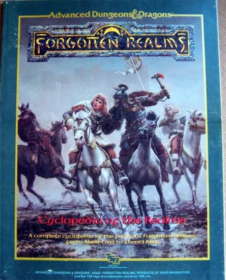 Advanced Dungeons and Dragons Forgotten Realms Cyclopedia of the Realms Softcover Book
