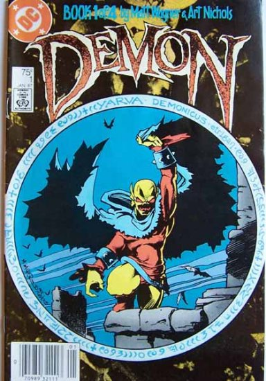 Demon Comic Book - No. 1 -Book 1 of 4 - January 1987