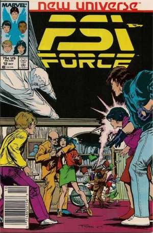 PSI Force Comic Book - Volume 1 No. 12 - October 1987