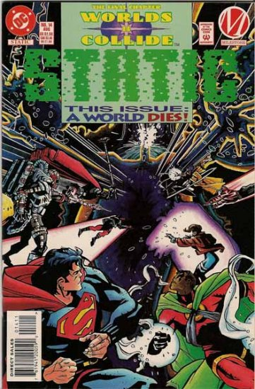 Worlds Collide Static Comic Book - No. 14 August 1994
