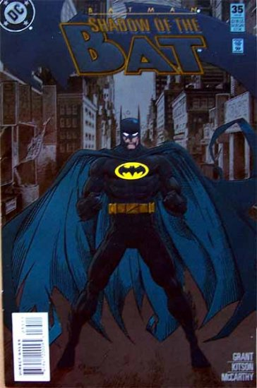 Batman Shadow of the Bat Comic Book - No. 35 February 1995 Cardstock Cover