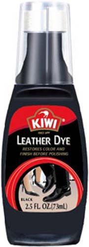 Kiwi Black Leather Dye with Applicator 2.5 oz.