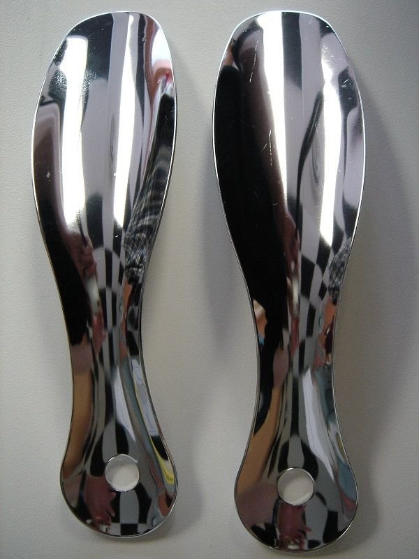 """(2) Two 7.5"""" Inches Stainless Steel Professional Metal Shoe Horn Shoespooner"""