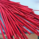 """(1 Pair) 72"""" Length x1/8"""" Width Rawhide Leather Shoe Boot Laces Shoelaces Red Color"""