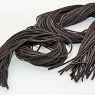 """(1 Pair, 2 Laces) 72"""" Length x1/8"""" Width Rawhide Leather Shoe Boot Shoelaces Brown Color"""