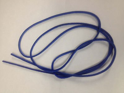"""(1 Pair) 54"""" Rawhide Leather Shoe Boot Laces Shoelaces 1/8"""" Width Timberland Blue Color"""