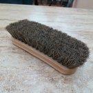 "Shoe Shine Brush 100% Horsehair Horse Hair Wood Handle Brown Boot Medium 6.75"""