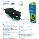 Spenco Rx Orthotic 3/4 Length Arch Cushion Insoles Inserts 43-158 Men's 6-7 Size