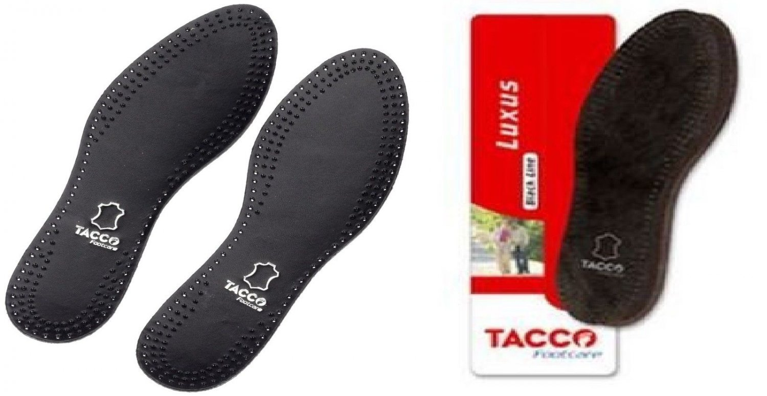 TACCO 713 Luxus Black Orthotic Arch Support Full Leather Shoe Insoles Inserts Women's 9