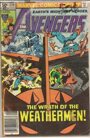 THE AVENGERS ISSUE 210 MARVEL COMICS