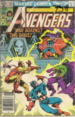 THE AVENGERS ISSUE 220 MARVEL COMICS