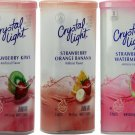 Crystal Light Strawberry Drink Mix Variety Pack 3 Flavors, 2 Canisters Each Flavor, 6 Canister Total