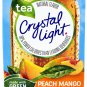 10 10-Packet Boxes Crystal Light Peach Mango Green Tea On The Go Drink Mix