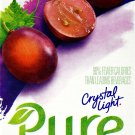 12 7-Packet Boxes Crystal Light Pure Grape On The Go Drink Mix