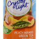 6 10-Quart Canisters Crystal Light Peach Mango Green Tea Drink Mix