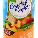 6 12-Quart Canisters Crystal Light Peach Iced Tea Drink Mix