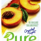 12 7-Packet Boxes Crystal Light Pure Peach Iced Tea On The Go Drink Mix