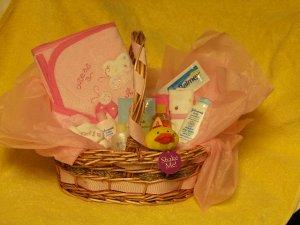 Baby Girl Welcome Home Basket