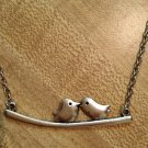 Necklace- Silver Chains and lobster clasp with silver LoveBird finding