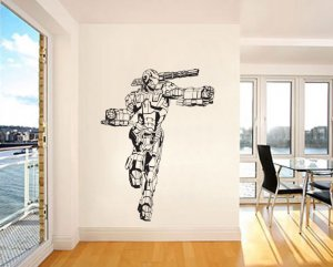 sc 1 st  eCRATER & War Machine Jim Rhodes Iron Man Vinyl Sticker Wall Decal (A0062D)