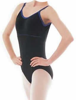 (LARGE) Colored Trimmed Camisole Leotard