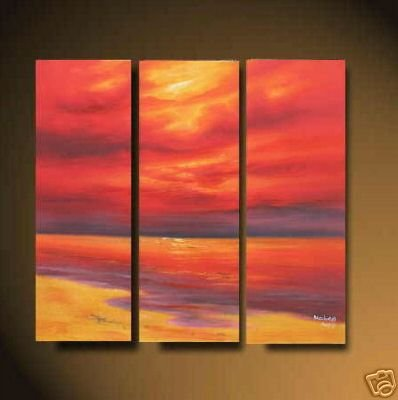 Modern ORIGINAL  sunset glow Oil painting 01