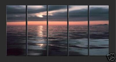 "Modern ORIGINAL Seasecape Oil painting ""ocean sunrise""4"