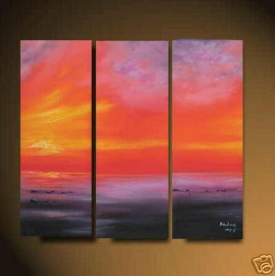 "Modern ORIGINAL seascape Oil painting "" Beach sea""04"