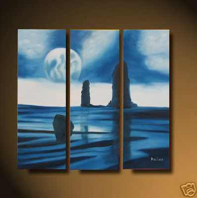 Modern ORIGINAL ABSTRACT Oil painting PAINTING seascape 710