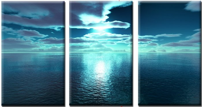 "Modern seascape oil painting on Canvas ""ocean""406"