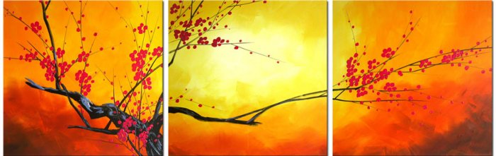 "Modern flower oil painting on Canvas ""tree""419"